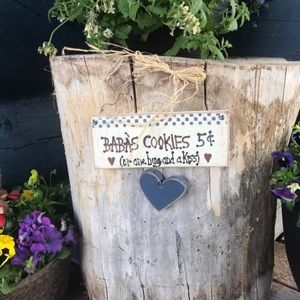 Baba's Cookies Sign